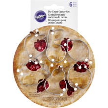 Wilton Mini Pie Cutter Set 6 Fruit 'n Flavor Apple Cherry Pear Strawberry