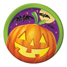 """Pumpkin Shine 8 7"""" Dessert Plates Halloween Party Bats"""