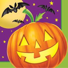 Pumpkin Shine 16 Beverage Napkins Halloween Party Bats
