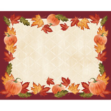 Fall Leaves and Pumpkins 12 Place mats Placemats Thanksgiving