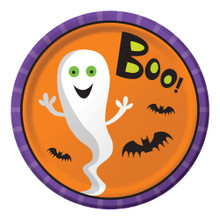 """Creepy Characters 8 9"""" Dinner Plates Halloween Party Ghost BOO!"""