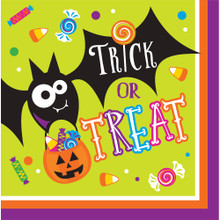 Gone Batty 16 Luncheon Napkins Halloween Party Bat Candy