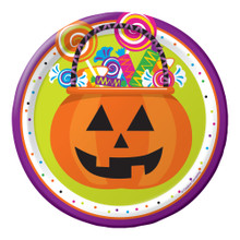 "Gone Batty 8 7"" Dessert Cake Plates Halloween Party Pumpkin Candy"