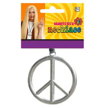 Peace Sign Medallion Necklace Groovy 60s Hippie Costume