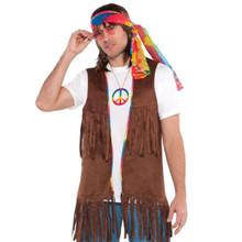 Groovy 60's Long Hippie Vest Men Male Adult Standard