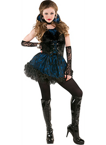 Midnight Vamp 5 Pc Costume Junior Medium 7 - 9