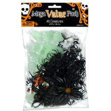 Halloween Creatures 48 Mega Value Favor Pack Spider Skeleton Bat