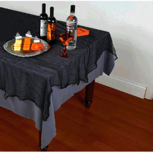 Black Cheesecloth Table Cover Halloween Decor