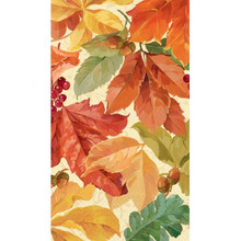 Elegant Leaves 16 Guest Napkins Fall Thanksgiving