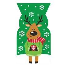 Reindeer 20 ct Cello Bags Ties Christmas Party Treat