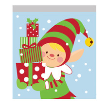 10 Christmas Elf Treat Sandwich Zip Bags Party
