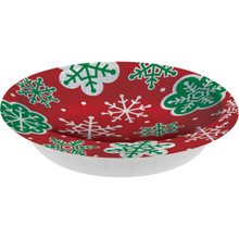 20 oz Bowls 8 ct Snowflake Red Green Christmas Party