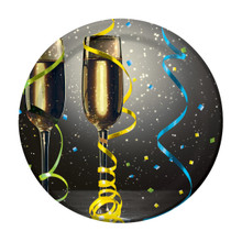 "New Years Eve Pop 8 Ct 7"" Dessert Plates Champagne Party"