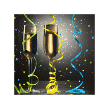 New Years Eve Pop 16 Beverage Napkins Champagne Party