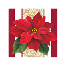 Poinsettia Lace 16 ct Beverage Napkins Christmas Party