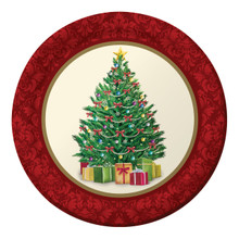 "Perfect Pine Christmas Tree 8 Ct 7"" Dessert Cake Plates Party"