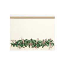 Winter Holly 54 x 108 Tablecover Plastic Christmas Party