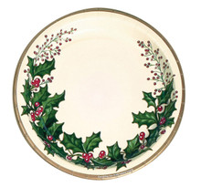 "Winter Holly 25 Ct 10"" Dinner Plates Christmas Party"