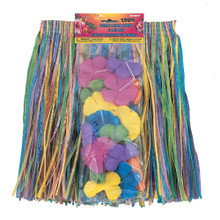 2 pc Hawaiian Luau Child's Flower Lei and Grass Hula Skirt Nylon