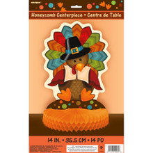 Cute Turkey Thanksgiving Honeycomb Centerpiece 14 inch