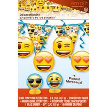 Emoji 7 Pc Decorating Set Centerpiece Swirls Banner Birthday Party