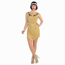 Champagne Flapper Roaring 20's Costume Women's Standard One Size