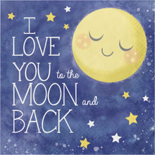 I love you to the Moon and Back 16 Luncheon Napkins Baby Shower Party