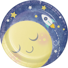 "Moon and Back 8 7"" Dessert Cake Paper Plates Baby Shower Birthday Party"