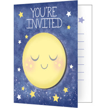 Moon and Back 8 Invitations envelopes Baby Shower Birthday Party