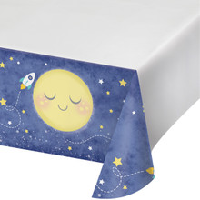 Moon and Back Plastic Tablecover 54 x 102 Baby Shower Birthday Party
