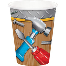 Handyman 8 9 oz Hot Cold Paper Cups Carpenter Tools Birthday Party