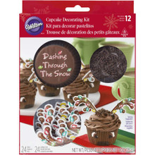 Reindeer Combo Cupcake Kit 24 Baking Cups Picks, Sprinkles Wilton