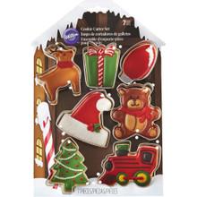 Wilton Metal Christmas Santa's Workshop 7 Pc Cookie Cutter Set
