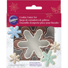 Wilton 3 Pc Nesting Snowflake Metal Cookie Cutter Set Snowflakes