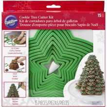 Gingerbread Christmas Tree Cookie Cutter Set 15 Pc