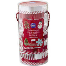 Wilton 10 Pc Cookie Cutter Set Christmas Gift Set Tube