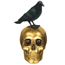 Gold Skull and Black Raven Tabletop Centerpiece Decoration Amscan
