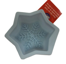 Wilton Snowflake Silicone Mold Light Blue 4.5 x 1.25