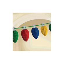 Christmas Light Bulbs Honeycomb Garland 10' Ft