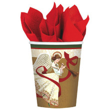 Holiday Spirit Angel Christmas 8 Ct 9 oz Paper Hot Cold Cups