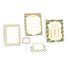 Christmas Buffet Decorating Kit  8 Ct Picks Signs