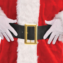 "Santa Claus Black Belt 36"" x 4"" Fabric"