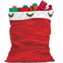 "Velour Deluxe Santa Claus Bag  Sack 36"" x 30"""