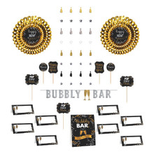 New Years Eve Bar Decorating Kit  Banner, Picks, Cards, Fans, Decor