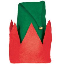 "Value Felt Elf Hat 15"" x 12"" with Jingle Bell"
