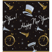 Black Tie Affair 54 x 84 3 Ct Plastic Tablecovers Table Cover New Years Eve