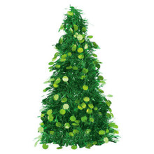 "Tinsel Christmas Tree 10"" Green"