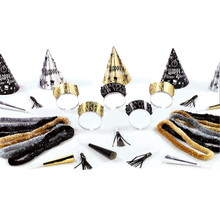 Midnight Party New Years Eve 25 Pc Assortment Kit For 10 Hats Tiaras Leis