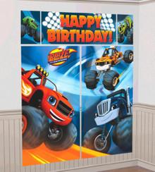 Blaze Monster Machines Truck Scene Setters Wall Decoration Kit