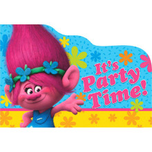 Trolls Birthday Party 8 Postcard Invitations , Seals, Envelopes, Save Date Stickers